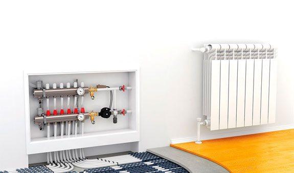 Установка систем отопления котлы, радиаторы, полотенцесушители, теплые полы и т.д.