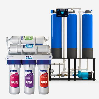 Установку фильтров на подачу холодной и горячей воды
